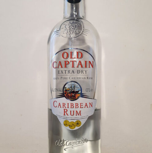 Old Captain Extra Dry Caribbean Rum (37.50%)