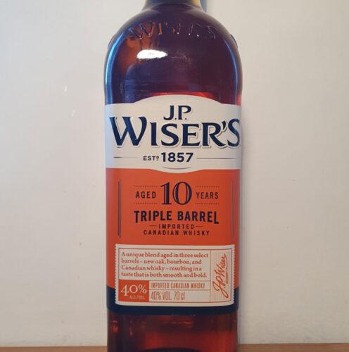 J.P. Wiser's 10 YO Triple Barrel Canadian Whisky (40%)